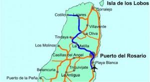 Map to El Cotillo, Fuerteventura